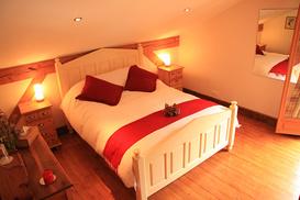 Big Goldilocks bed in the Master bedroom