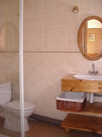 Ensuite bathroom with shower - room 1