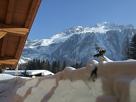 Sun, snow and ski (Grands Montets slopes here)