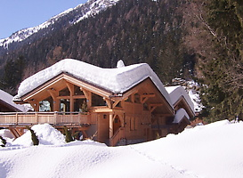 Picture of the chalets' first winter