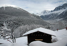 Looking up the Chamonix valley