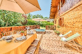 Terrace in the summer