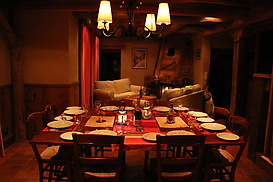 Dining and Living at Night